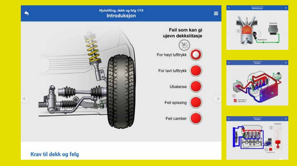 Her er en unik digital lærebok for bilfag